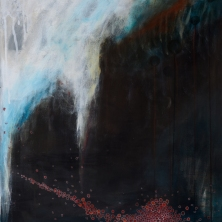 Amöben in der Gletscherspalte - amambas in the crevasse (Acryl auf Leinwand 80x70)